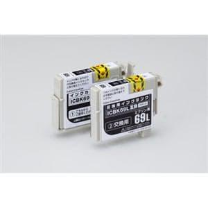 カラークリエーション エプソンICBK69L互換インクカートリッジ CCE-ICBK69LW