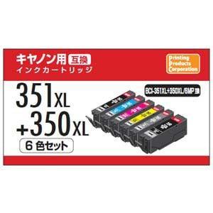 PPC PP-C351L-6P キヤノン用互換インク(6色セット・大容量)