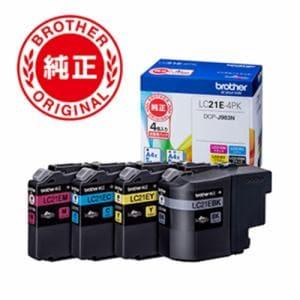 ブラザー LC21E-4PK ブラザー純正インク 4色セット