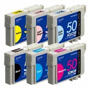 プレジール PLE-E506P-N2 エプソン IC6CL50互換インクカートリッジ 6色パック
