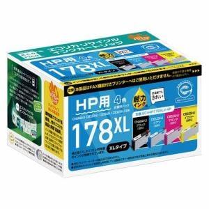 エコリカ ECI-HP178XLV-4P HP178XL互換リサイクルインクカートリッジ