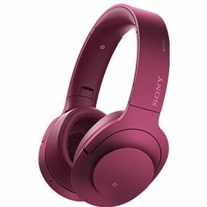 ソニー 【ハイレゾ音源対応】 Bluetooth対応ノイズキャンセリング搭載ダイナミック密閉型ヘッドホン ボルドーピンク MDR-100ABN-P