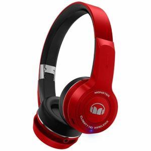 モンスターケーブル MH-CLY-ON-RD-BT ワイヤレスオンイヤーヘッドフォン レッド