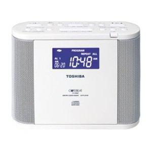 東芝 CDクロックラジオ ホワイト TY-CDR8(W)