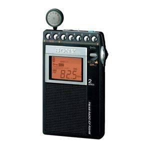ソニー FM/AM PLLシンセサイザーラジオ 山ラジオ ICF-R354M