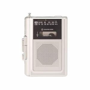 サウンドルック SAD-1240/S スピーカー付ポータブルラジオカセットレコーダー