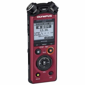 オリンパス 【ハイレゾ音源対応】 ICレコーダー レッド LS-P2-RED