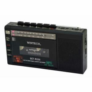 WINTECH SCT-R225-K マイクロSD/USB録音対応コンパクトラジカセ ブラック