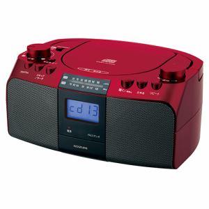 コイズミ SAD-4701R CDラジオ レッド