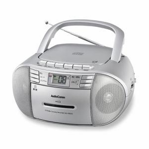 オーム電機 RCD-1016ZYD-S CDラジオカセットレコーダー AudioComm シルバー
