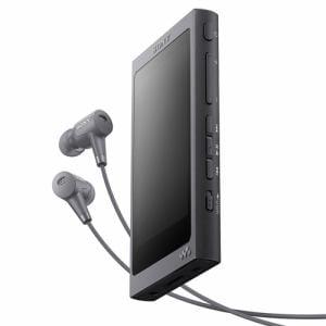 ソニー NW-A45HN-B 【ハイレゾ音源対応】 ウォークマン Aシリーズ[メモリータイプ] ヘッドホン付属モデル 16GB グレイッシュブラック