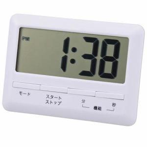 オーム電機 COK-TE1-W 大画面時計付きタイマー