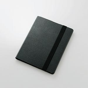 <ヤマダ> エレコム iPad用ソフトレザーカバー(スタンド・360度回転タイプ) ブラック TB-A12360BK TBA12360BK/IPAD-T画像