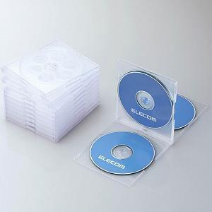 エレコム Blu-ray/DVD/CDケース(標準/PS/4枚収納/5パック) クリア CCD-JSCNQ5CR