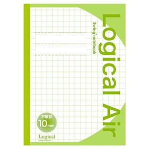 ナカバヤシ ロジカルエアー(軽量ノート)B5 方眼10ミリ グリーン HB5-H101-G