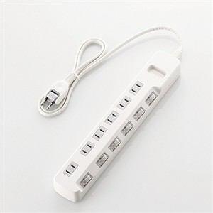 エレコム 個別スイッチ付 省エネタップ 1.0m ホワイト T-E5A-2610WH