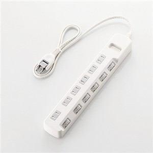 エレコム ほこり防止シャッター付 省エネタップ 3.0m ホワイト T-E6A-2630WH