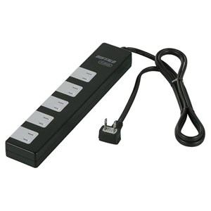 バッファロー 電源タップ 雷サージ防止/集中スイッチ付(10個口・1.5m) ブラック BSTAPSD21015BK