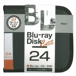 ナカバヤシ BD/DVD/CD用 ディスクケース 24枚収納 ブラック BD-080-24-BK