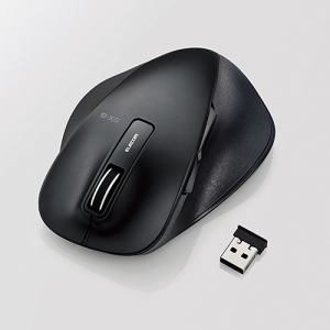 エレコム EX-G ワイヤレスBlueLEDマウス Lサイズ ブラック M-XGL10DBBK