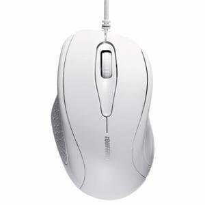 バッファロー 有線IR LED光学式マウス ホワイト BSMRU21WH