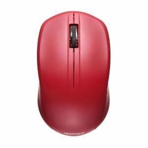 バッファロー 無線(2.4GHz)IR LEDマウス 3ボタンタイプ レッド BSMRW21RD