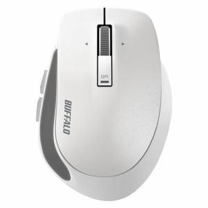 バッファロー BSMBW500SWH Premium Fitマウス 無線/BlueLED光学式/静音/5ボタン/横スクロール/Sサイズ ホワイト