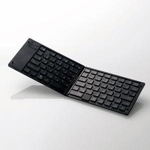 エレコム TK-FLP01PBK タッチパッド搭載ワイヤレスBluetoothキーボード ブラック