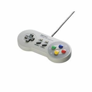 バッファロー BSGP810GY レトロ調 USBゲームパッド 8ボタンタイプ グレー