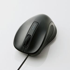 エレコム M-MK1UBSBK 有線巻き取り式BlueLEDマウス ブラック