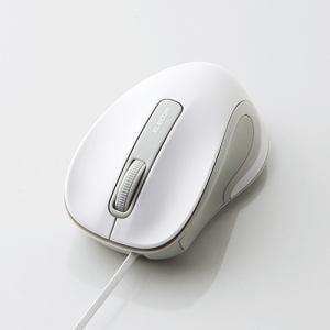 エレコム M-MK1UBSWH 有線巻き取り式BlueLEDマウス ホワイト