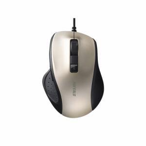 バッファロー BSMBU300GD 有線BlueLED光学式マウス 静音/5ボタン/DPI切り替えボタン ゴールド