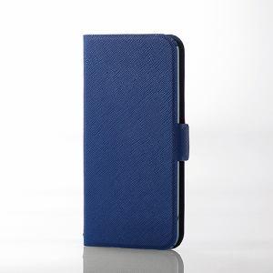 エレコム AVA-T17PLFUBU iPod touch用薄型レザー ブルー