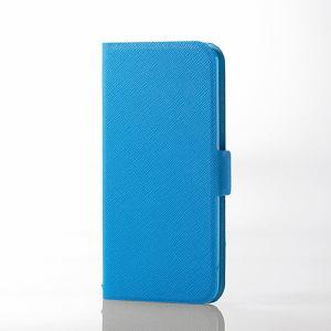 エレコム AVA-T17PLFULBU iPod touch用薄型レザー ライトブルー
