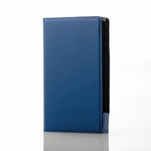 エレコム AVS-A17PLFUBU WALKMAN A40用薄型レザーケース ブルー