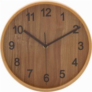 掛け時計・ウォールクロック ナチュラル 径22cm