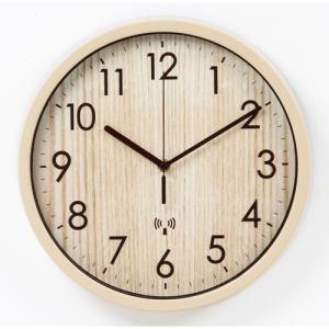 電波ウォールクロック ナチュラル 家具 インテリア 雑貨 電波掛時計