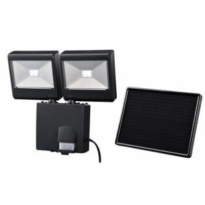 オーム電機 ソーラー式 LEDセンサーライト 2灯4W LS-SH2D4-K