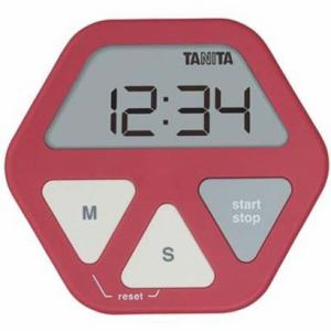タニタ デジタルタイマー レッド TD-410-RD