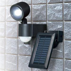 エルパ ESL-N101SL(BK) 屋外用LEDセンサーライト ソーラー充電式 1灯 70ルーメン