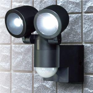 エルパ ESL-N102BT(BK) 屋外用LEDセンサーライト 乾電池式2灯 180ルーメン