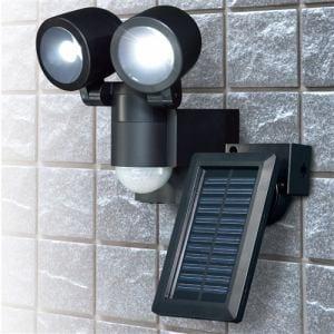 エルパ ESL-N102SL(BK) 屋外用LEDセンサーライト ソーラー充電式 2灯 140ルーメン