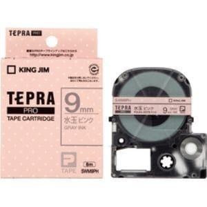 <ヤマダ> キングジム キングジム 模様ラベルテープ 「テプラPRO」 (水玉ピンクテープ/グレー文字/9mm幅) SWM9PH SWM9PH画像