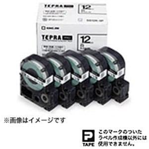 キングジム テプラ 白ラベルテープ (白テープ/黒文字/12mm幅・5個パック) SS12K5P