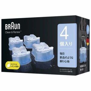 ブラウン クリーン&リニューシステム専用洗浄液カートリッジ メンズシェーバー用 CCR4 CR(4個入り)