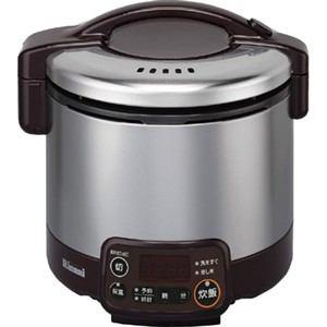 リンナイ ガス炊飯器 「こがまる VMTシリーズ」(3合) 【プロパンガスLP用】 ダークブラウン RR-030VMT(DB)-LP