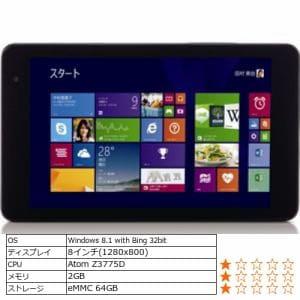 ヤマダ電機オリジナル Windows 8.1対応タブレットPC Every Pad Pro