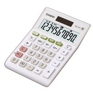 カシオ ミニジャスト型電卓 MW-100T-WE-N