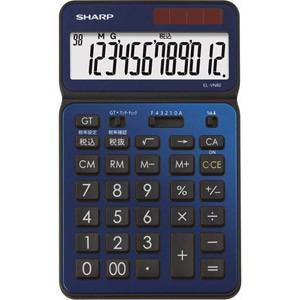シャープ 卓上電卓 12桁 50周年記念モデル ディープブルー EL-VN82-AX