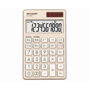 シャープ カラー・デザイン電卓 「手帳タイプ」(10桁) シャンパンゴールド EL-VW31-NX